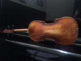 back view of Bergonzi Violin for sale at adamsmusic.com