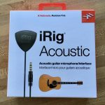 iRig acoustic guitar microphone in box