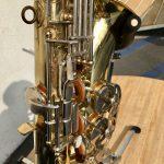 Olds alto sax closeup of keys