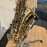 Olds alto sax closeup of bell