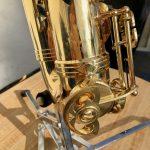 Keilwerth alto saxophone closeup of serial number