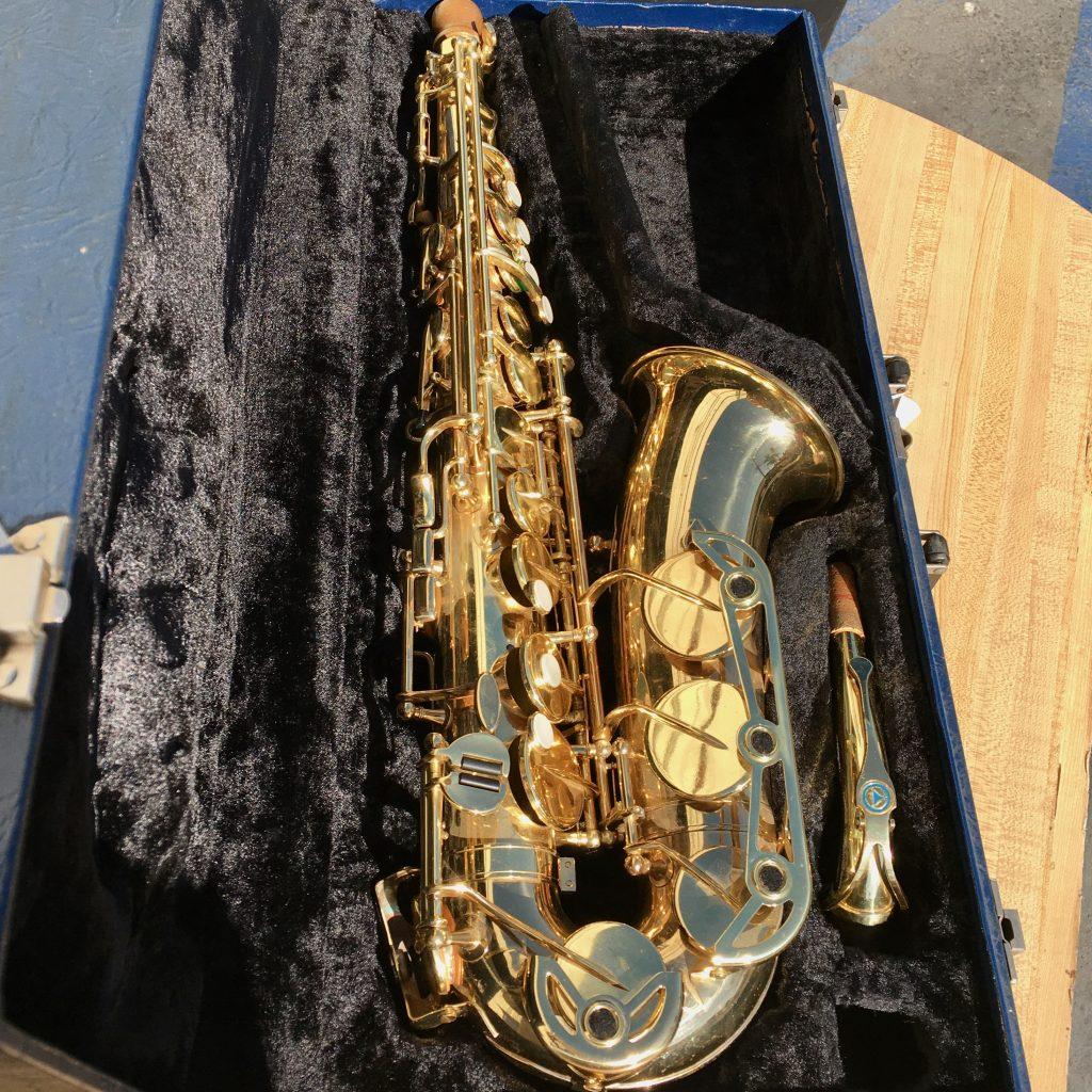 Keilwerth alto saxophone inside plush case