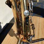 Reverse angle of keys of Vito alto saxophone