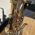 Closeup of keys of Vito alto saxophone