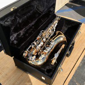Vito alto saxophone inside plush case
