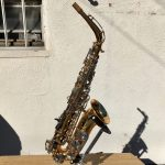 Side view of Vito alto saxophone